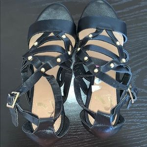 Black wedges. Size 5 1/2